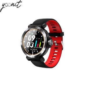 montre noir et rouge